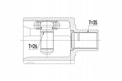 NPWVV080 шрус внутренний левый volvo s80 3.0 00 - купить по цене 1892 грн. Z14723374 - iZAP24