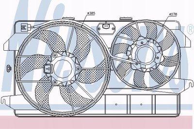 85263 вентилятор радиатора форд transit connect 02 - 1.8